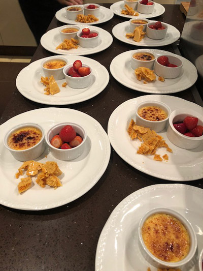 Desserts served at Hove party