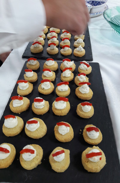 Office party canapes